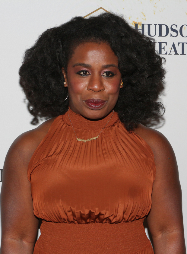 <p><em>Orange Is the New Black</em> Emmy winner Uzo Aduba enjoys a night out on Broadway.</p><br />(© David Gordon)