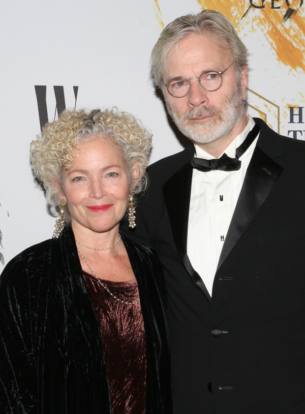 <p>Amy Irving poses with her husband, Kenneth Bowser.</p><br />(© David Gordon)
