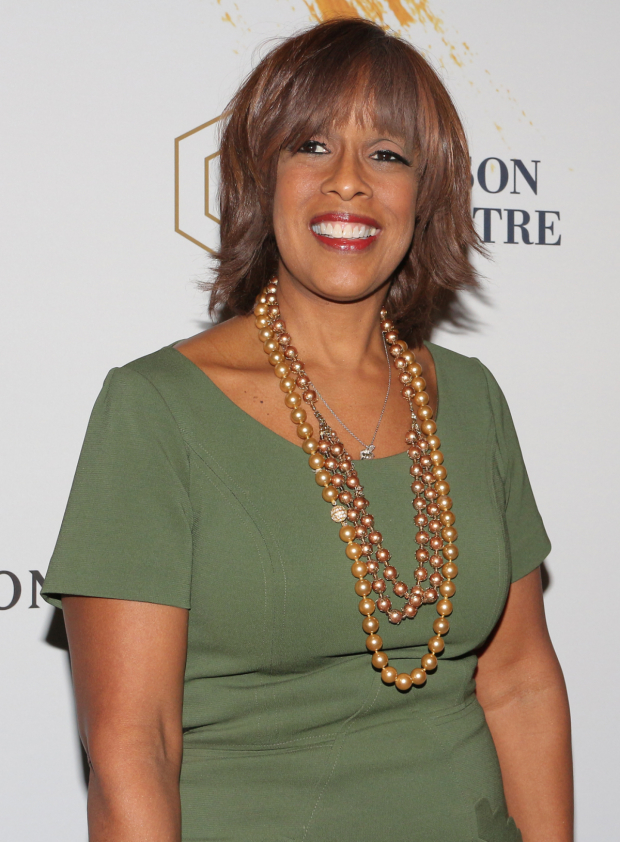 <p>Gayle King makes an entrance for the opening of <em>Sunday in the Park With George</em>.</p><br />(© David Gordon)