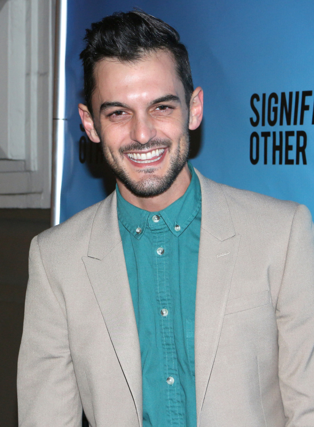 <p>Wesley Taylor is thrilled to cheer on his pals in <em>Significant Other</em>.</p><br />(© David Gordon)