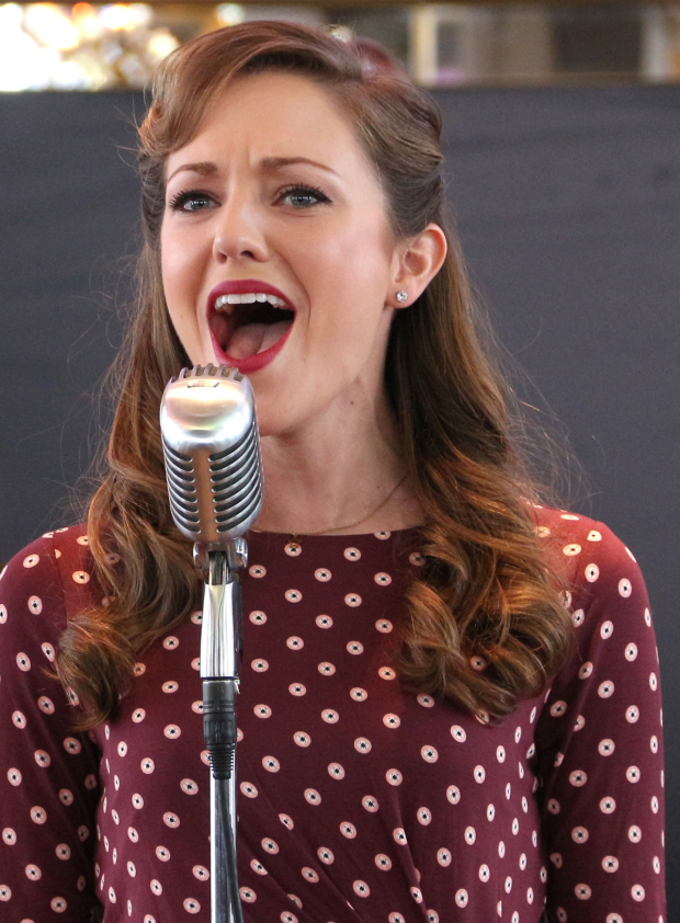 <p>Laura Osnes heads the cast of <em>Bandstand</em>.</p><br />(© David Gordon)