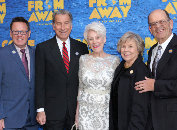 <p>Kevin Tuerff, Tom Stawicki, Beverley Bass, Diane Marson, and Nick Marson are the real-life inspirations for the characters in the musical <em>Come From Away</em>.</p><br />(© David Gordon)