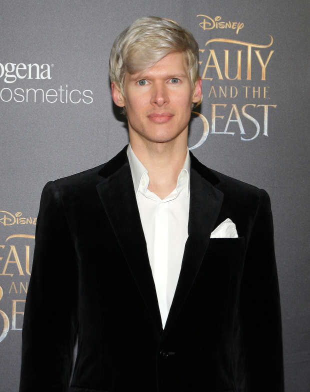<p><em>The Great Comet</em>&#39&#x3B;s Lucas Steele walks the red carpet before the screening.</p><br />(© David Gordon)
