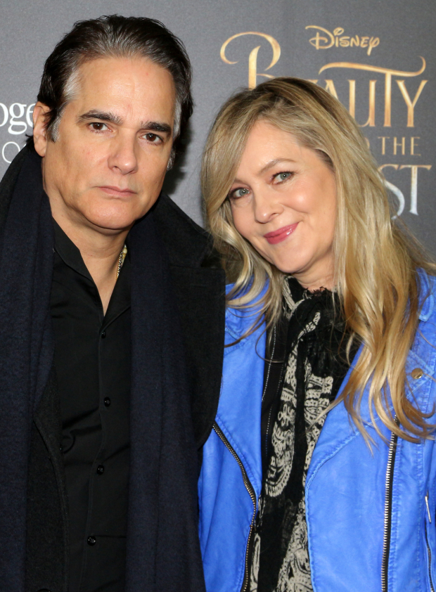 <p>Linda Larkin, the voice of Princess Jasmine in <em>Aladdin</em>, takes in the movie with her husband, Tony nominee Yul Vazquez.</p><br />(© David Gordon)