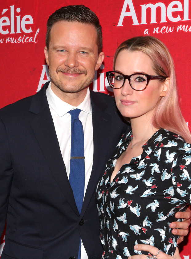 <p>Will Chase and Ingrid Michaelson walk the red carpet together.</p><br />(© David Gordon)