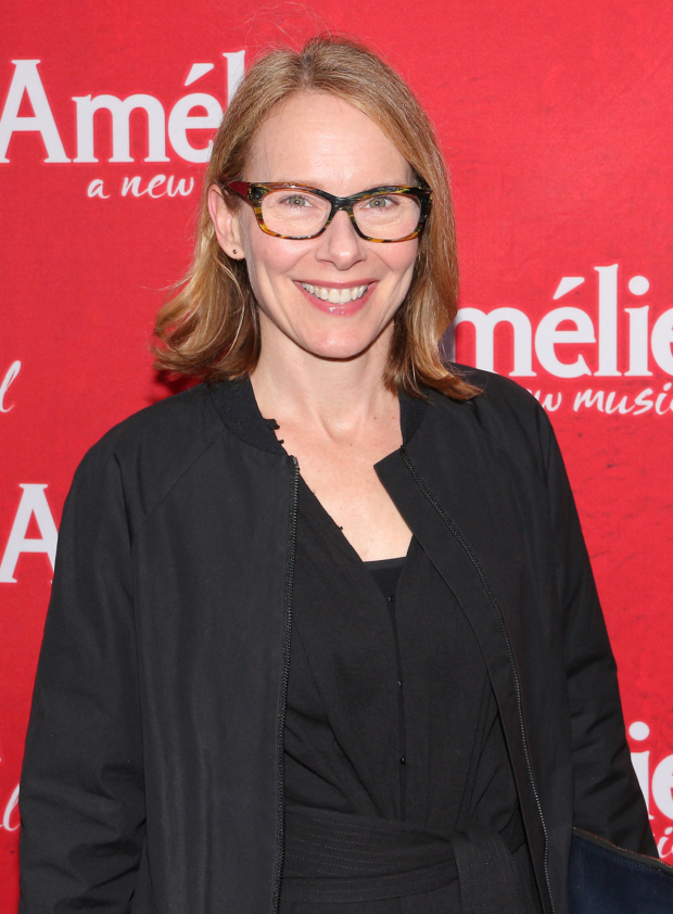 <p>Amy Ryan poses for a photo before the show starts.</p><br />(© David Gordon)