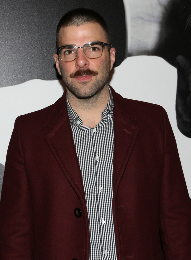<p>Zachary Quinto poses for photos before the show.</p><br />(© David Gordon)