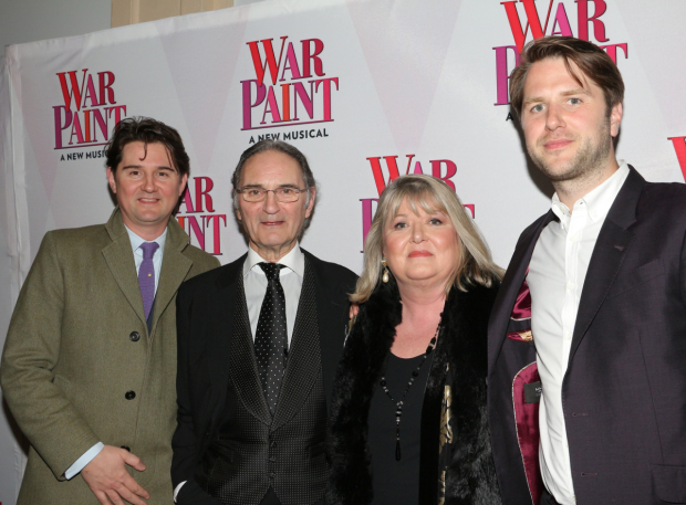 <p>Lindy Woodhead, author of the novel <em>War Paint</em> (second from right), shares the evening with her family.</p><br />(© David Gordon)