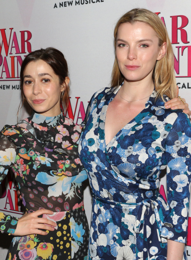 <p>Cristin Milioti and Betty Gilpin take in the show together.</p><br />(© David Gordon)