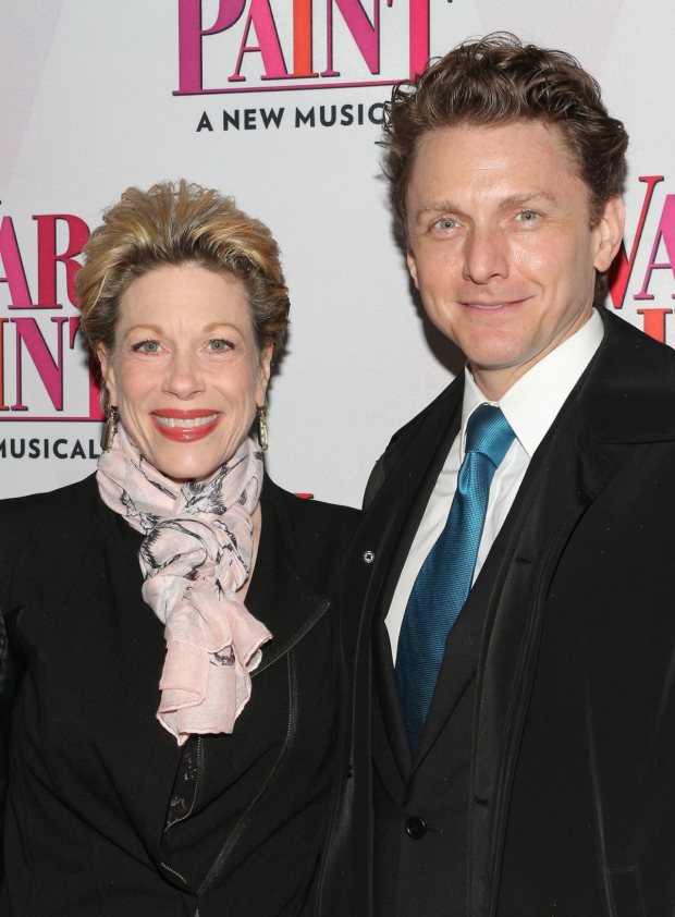 <p>Marin Mazzie and Jason Danieley spend date night at the opening of <em>War Paint</em>.</p><br />(© David Gordon)