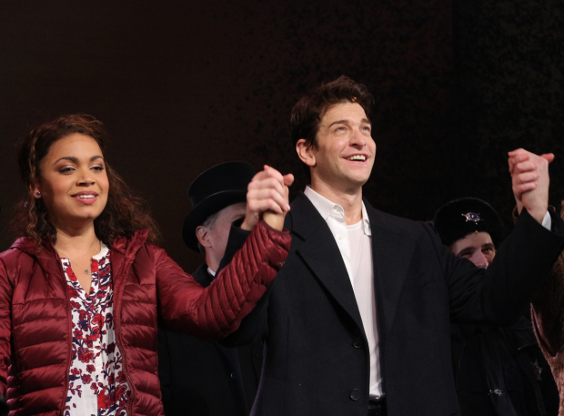 <p>Happy opening to Barrett Doss, Andy Karl, and the <em>Groundhog Day</em> family!</p><br />(© David Gordon)