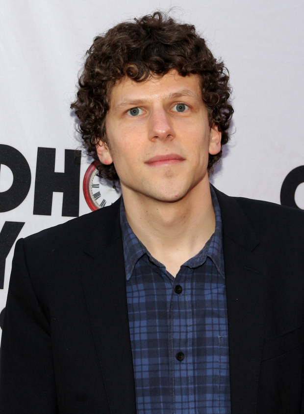 <p>Jesse Eisenberg takes in the opening night performance of this new Broadway musical.</p><br />(© David Gordon)