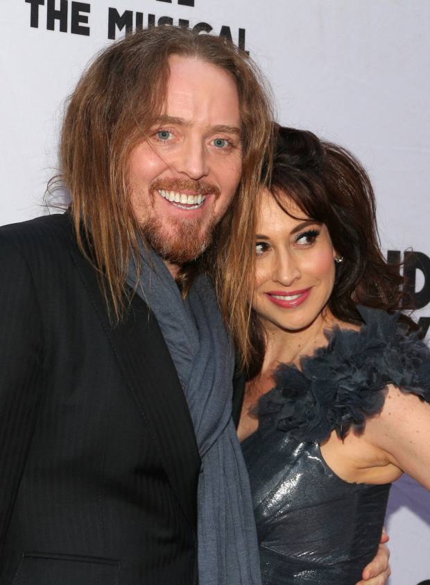 <p>Lesli Margherita reunites with her <em>Matilda</em> songwriter Tim Minchin.</p><br />(© David Gordon)