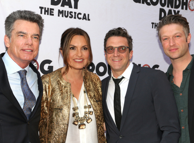 <p>It&#39&#x3B;s a <em>Law &amp&#x3B; Order</em> reunion for Peter Gallagher, Mariska Hargitay, Raúl Esparza, and Peter Scanavino.</p><br />(© David Gordon)