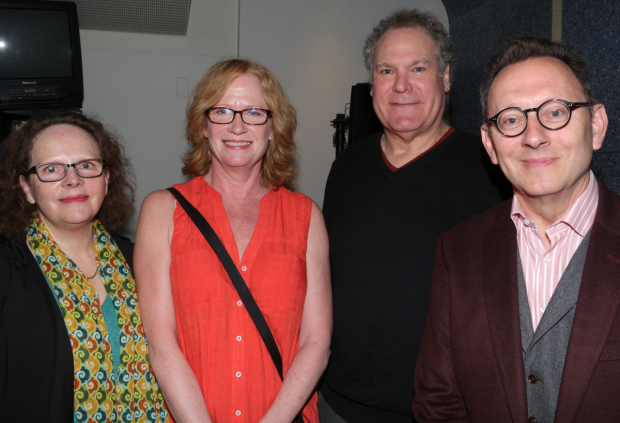 <p>Maryann Plunkett, Johanna Day, Jay O. Sanders, and Michael Emerson gather for a snapshot.</p><br />(© David Gordon)