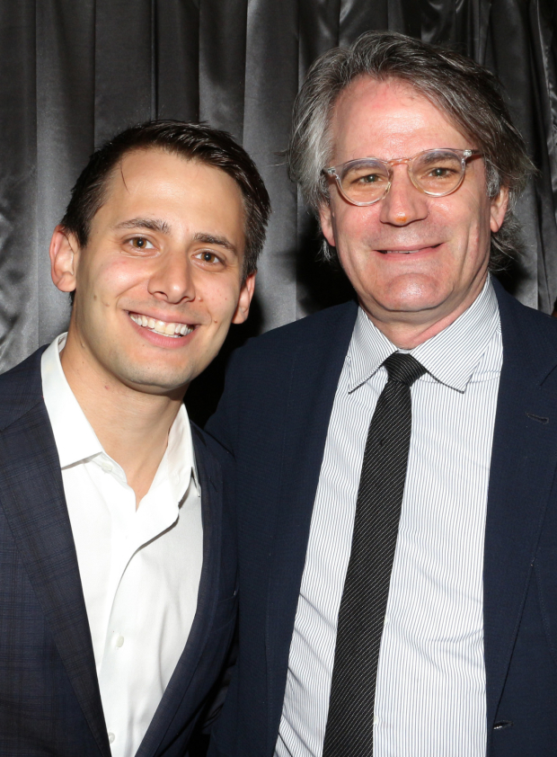 <p><em>Dear Evan Hansen</em>&#39&#x3B;s Benj Pasek catches up with <em>Oslo</em> director Bartlett Sher.</p><br />(© David Gordon)