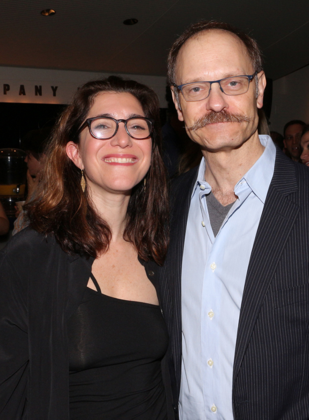 <p>Nominees Jenny Gersten and David Hyde Pierce pose for a photo together.</p><br />(© David Gordon)