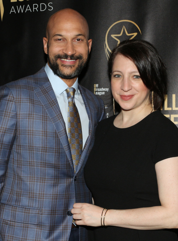 <p>Keegan-Michael Key and Elisa Pugliese arrive for the show.</p><br />(© David Gordon)