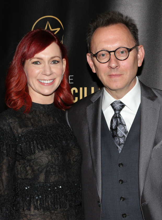 <p>Carrie Preston and MIchael Emerson head to the Lortel Awards.</p><br />(© David Gordon)