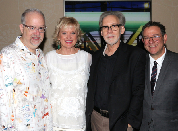<p>The team behind <em>War Paint</em>: book writer Doug Wright, leading lady Christine Ebersole, songwriter Michael Korie, and director Michael Greif.</p><br />(© David Gordon)