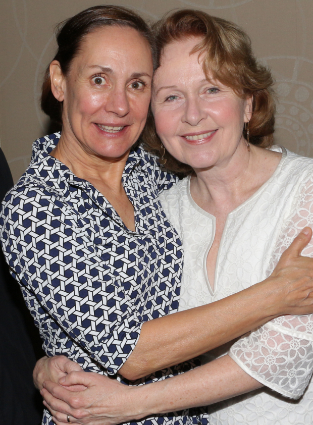 <p>Laurie Metcalf gets a hug from Kate Burton.</p><br />(© David Gordon)