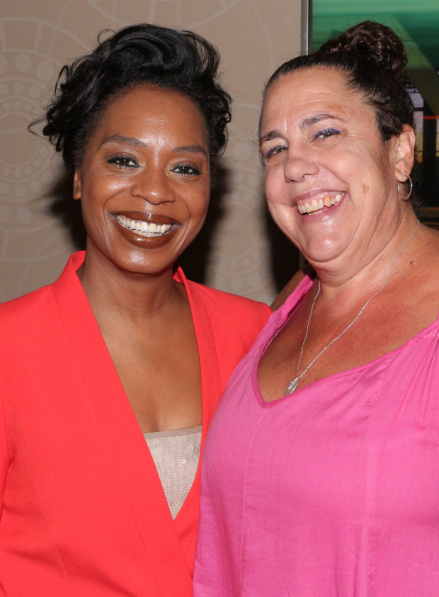 <p>Michelle Wilson and Marcia DeBonis, cast members from <em>Sweat</em> and <em>Small Mouth Sounds</em>.</p><br />(© David Gordon)