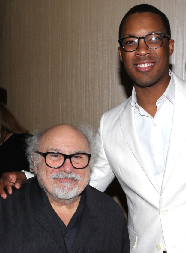 <p>Danny DeVito and Corey Hawkins, Tony nominees for <em>The Price</em> and <em>Six Degrees of Separation</em>.</p><br />(© David Gordon)