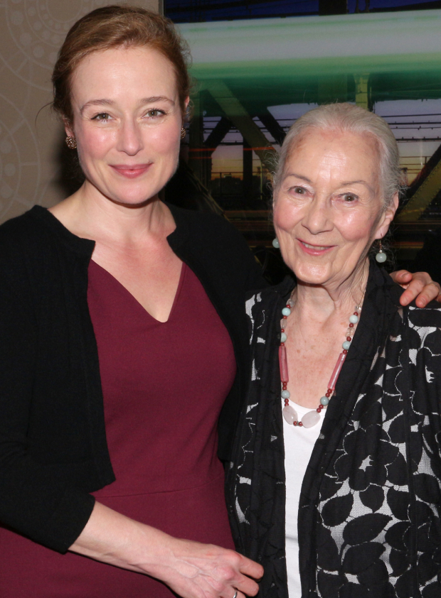 <p><em>Oslo</em> star Jennifer Ehle with her mother, legendary actress Rosemary Harris.</p><br />(© David Gordon)