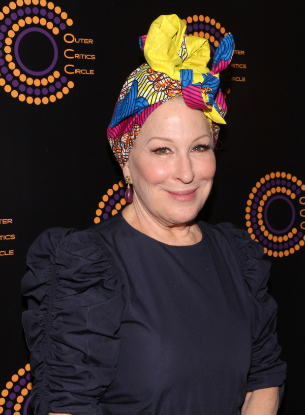 <p>Bette Midler, Outstanding Actress in a Musical recipient for <em>Hello, Dolly!</em></p><br />(© David Gordon)