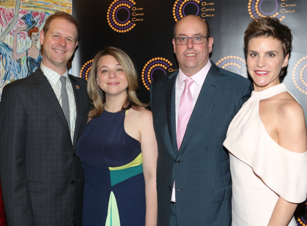 <p>David Hein, Irene Sankoff, Christopher Ashley, and Jenn Colella, recipients for <em>Come From Away</em>.</p><br />(© David Gordon)
