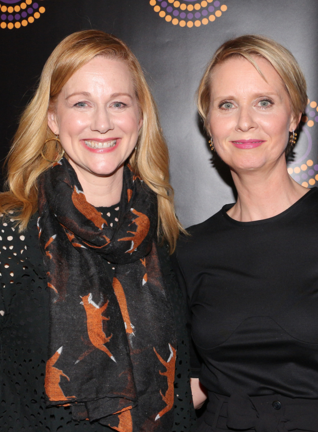 <p>Laura Linney and Cynthia Nixon, Outstanding Actress and Featured Actress recipients for <em>The Little Foxes</em>.</p><br />(© David Gordon)