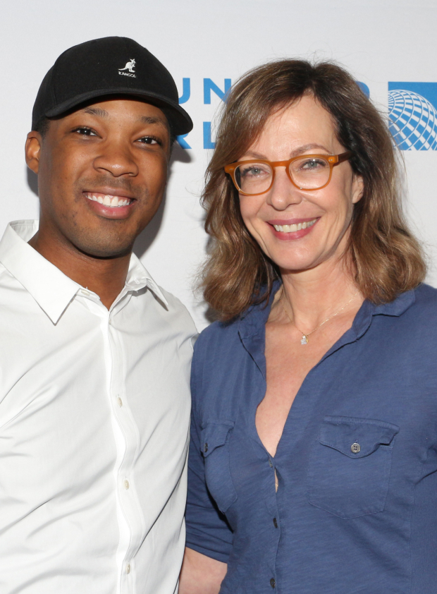 <p>Corey Hawkins and Allison Janney represent <em>Six Degrees of Separation</em>.</p><br />(© David Gordon)