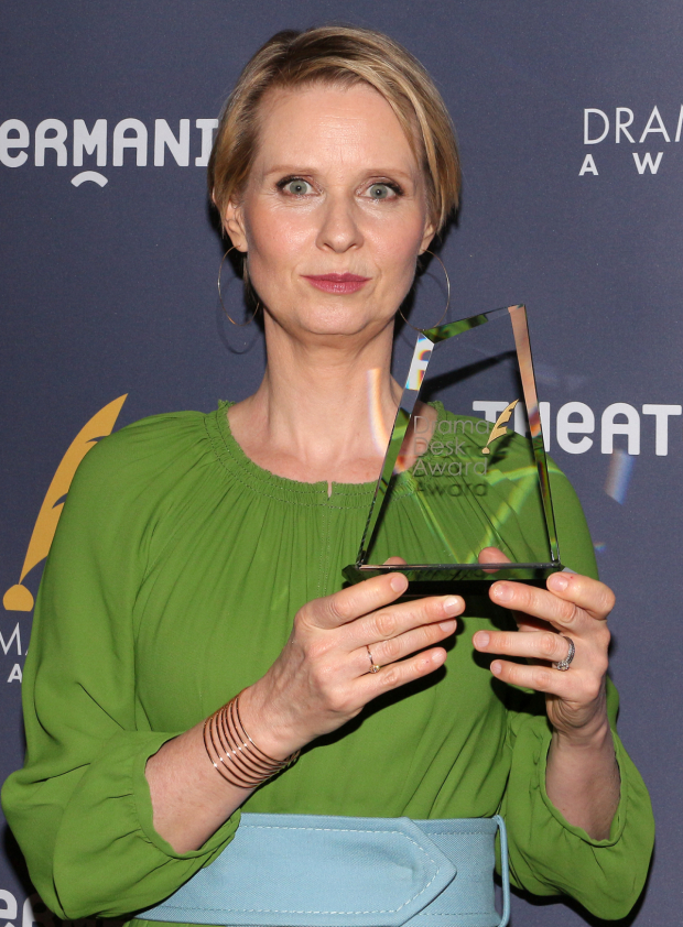 <p>Cynthia Nixon, Outstanding Featured Actress in a Play recipient for <em>The Little Foxes</em>.</p><br />(© David Gordon)