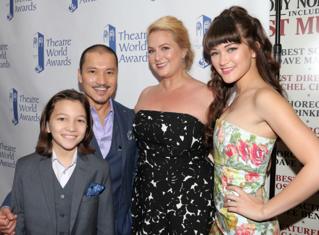 <p>Jon Jon Briones, recipient for <em>Miss Saigon</em>, with his family.</p><br />(© David Gordon)