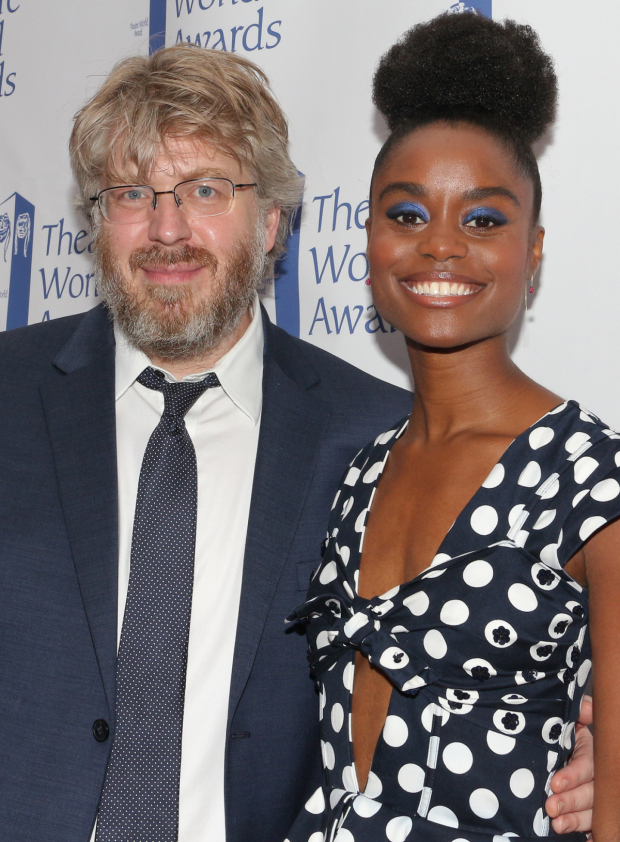 <p>Dave Molloy and Denée Benton, recipients for <em>Natasha, Pierre &amp&#x3B; The Great Comet of 1812</em>.</p><br />(© David Gordon)