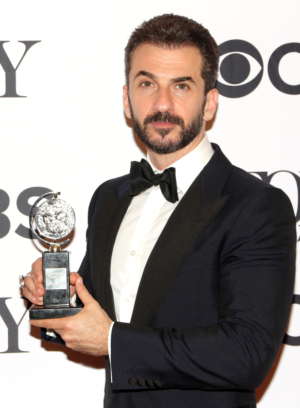 <p>Michael Aronov, Best Featured Actor in a Play winner for <em>Oslo</em>.</p><br />(© David Gordon)