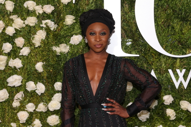 <p>Last year&#39&#x3B;s Best Actress in a Musical, Cynthia Erivo, works the red carpet.</p><br />(© David Gordon)