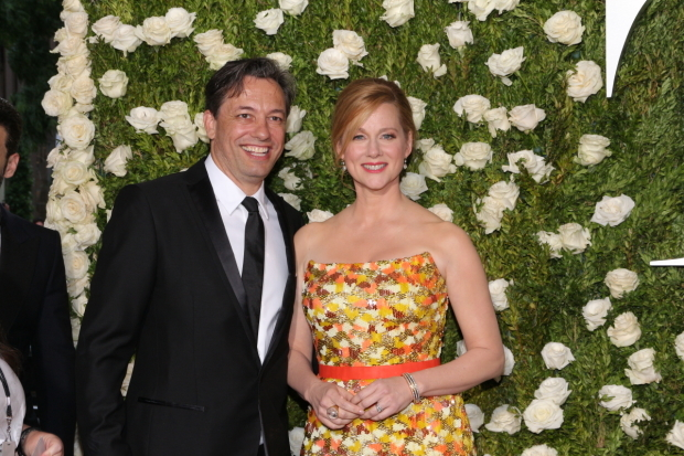 <p>Laura Linney, Best Leading Actress in a Play nominee for <em>The Little Foxes</em> and her husband, Marc Schauer.</p><br />(© David Gordon)