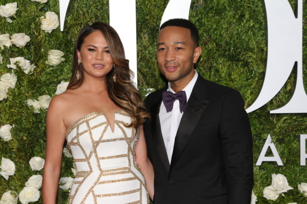 <p>Chrissy Teigen and her husband, John Legend, who served as one of the producers of August Wilson&#39&#x3B;s <em>Jitney</em>.</p><br />(© David Gordon)
