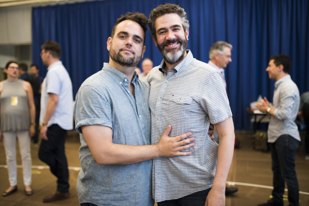 <p>Greg Hildreth stars as Olaf and Kevin Del Aguila as Oaken.</p><br />(© Jenny Anderson)