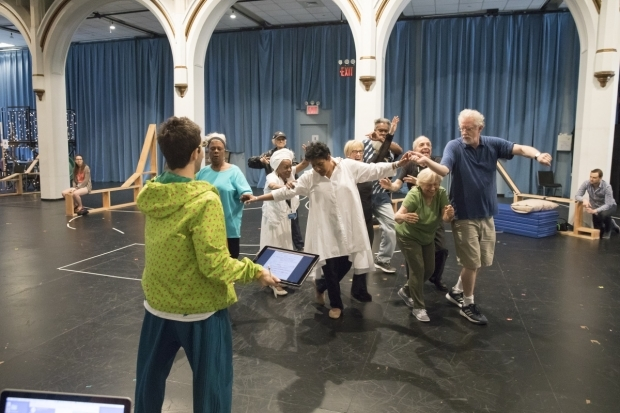 <p>Choreographer Chase Brock works with the company.</p><br />(© Simon Luethi)