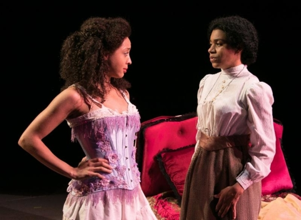 <p>Shayna Small stars opposite Kelly McCreary in a scene from <em>Intimate Apparel</em>.</p><br />(© Lenny Stucker)