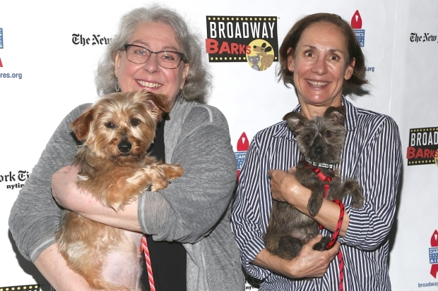 <p><em>A Doll&#39&#x3B;s House, Part 2</em>&#39&#x3B;s Jayne Houdyshell and Laurie Metcalf would never walk out on these dogs.</p><br />(© Tricia Baron)