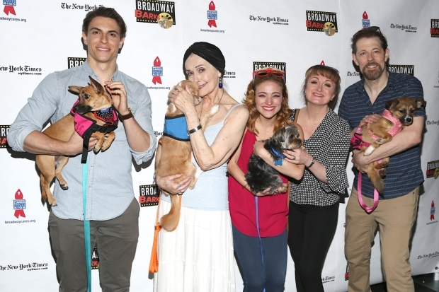 <p><em>Anastasia</em>&#39&#x3B;s Derek Klena, Mary Beth Peil, Christy Altomare, Caroline O&#39&#x3B;Connor, and John Bolton fell in love with their new friends.</p><br />(© Tricia Baron)
