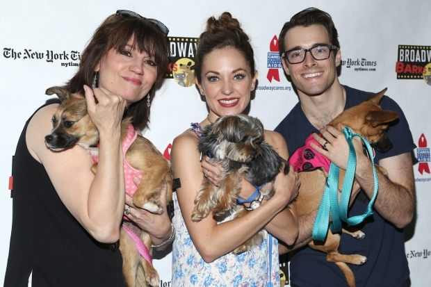 <p><em>Bandstand&#39&#x3B;s</em> Beth Leavel, Laura Osnes, and Corey Cott spent the afternoon with their new friends.</p><br />(© Tricia Baron)