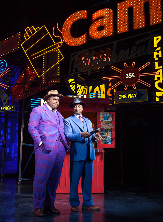 <p>Costars J. Bernard Calloway and Terence Archie share a scene.</p><br />(© Jim Cox)