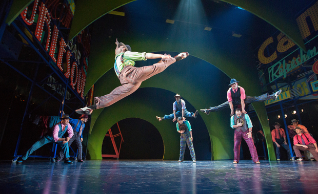 <p>Josh Rhodes directs <em>Guys and Dolls</em>, which he also choreographed.</p><br />(© Jim Cox)