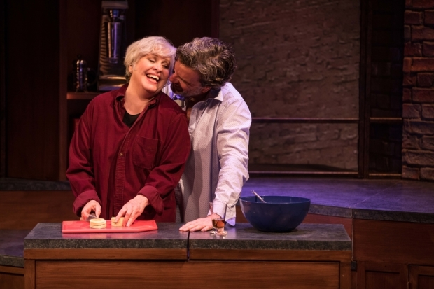 <p>Nancy Opel and Christopher Shyer bond over some intimate food prep.</p><br />(© Matthew Murphy)