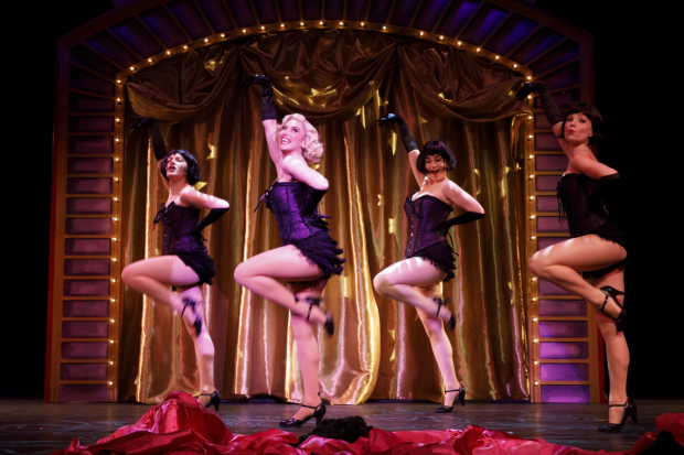 <p>Alysa Finnegan, Lesli Margherita, Isabel Stein, and Alyssa Gardner deliver a showstopping number.</p><br />(© Joan Marcus)