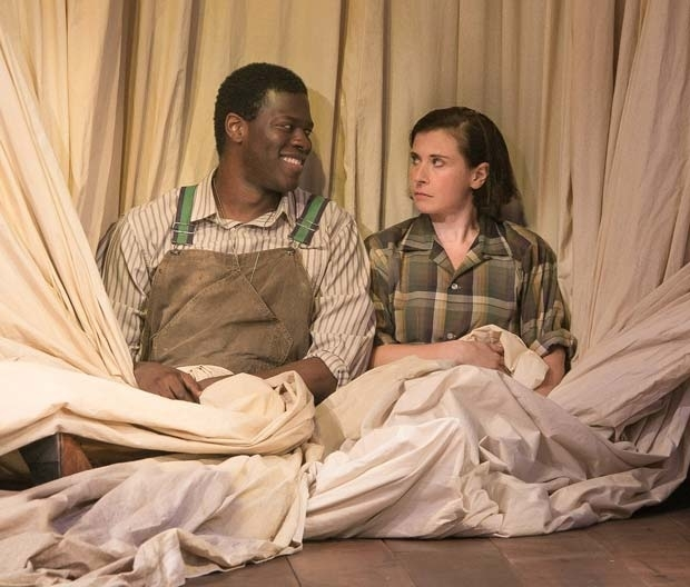 <p>Kyle Scatliffe stars as Orlando opposite Hannah Cabell as Rosalind.</p><br />(© Lenny Stucker)